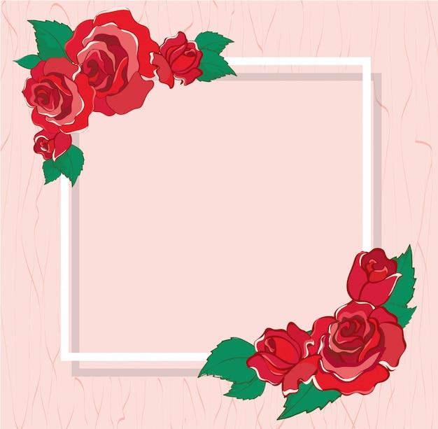 Mooie valentines wenskaart met rode rozen