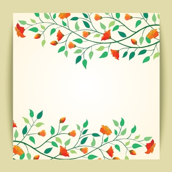 Mooie vector illustratie bloem achtergrond