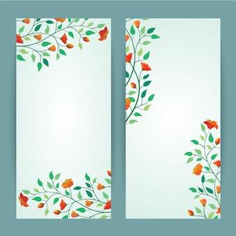 Mooie vector uitstekende van de bloembanner malplaatje als achtergrond