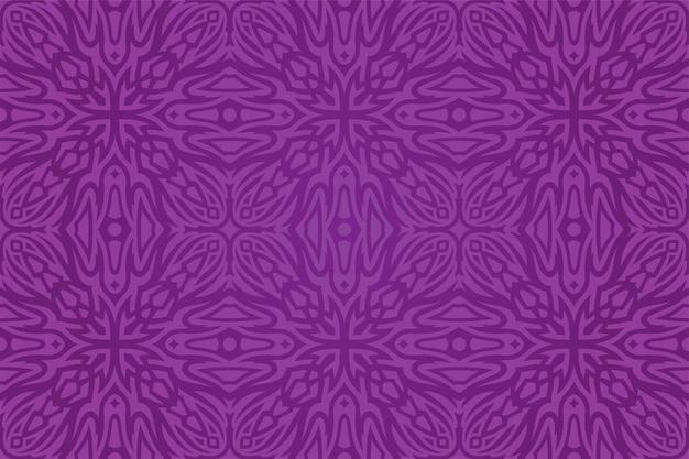 Mooie vectorachtergrond met kleurrijk paars stammen naadloos patroon