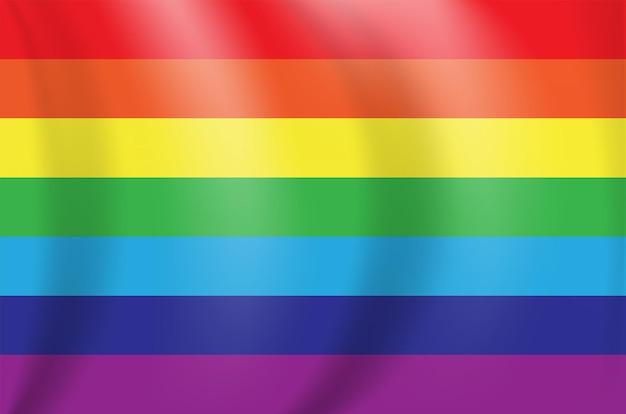 Mooie veelkleurige regenboogvlag. vectorillustratie. eps10