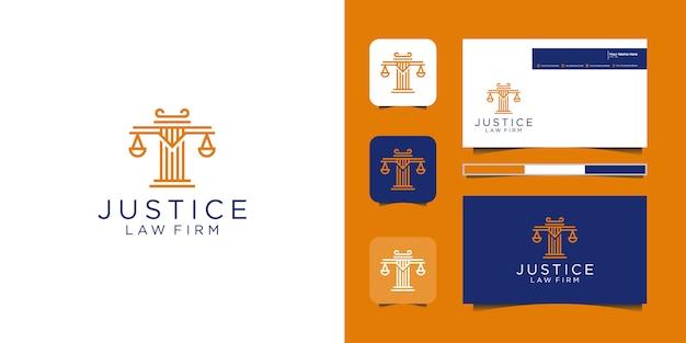 Mooie verenlogo's voor advocatenkantoren en rechtbanken
