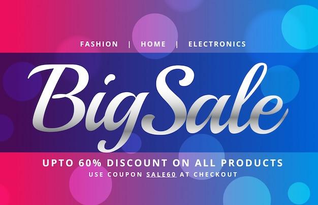 Mooie verkoop banner poster vector ontwerp sjabloon met bokeh achtergrond