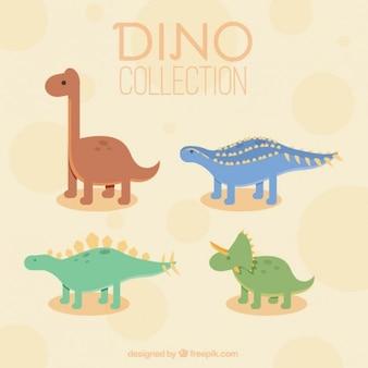 Mooie verscheidenheid van dinosaurussen Gratis Vector