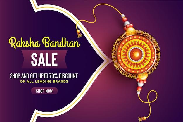 Mooie versierde rakhi op rode achtergrond voor raksha bandhan verkoop vectorillustratie
