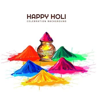 Mooie vierings kleurrijke holi
