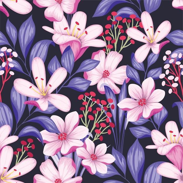 Mooie vintage naadloze bloemmotief