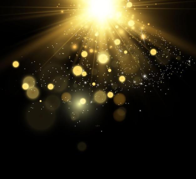 Mooie vonken schijnen met bijzonder licht