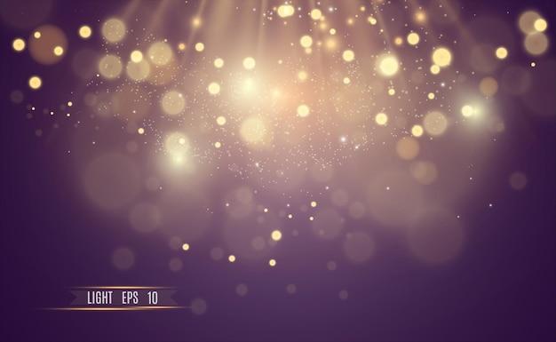 Mooie vonken schijnen met speciaal licht vector schittert op een transparante achtergrond kerstmis