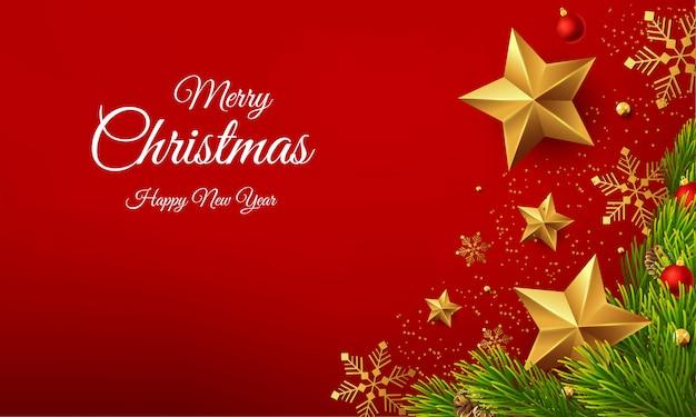 Mooie vrolijke de groetvector van het kerstmis gelukkige nieuwe jaar