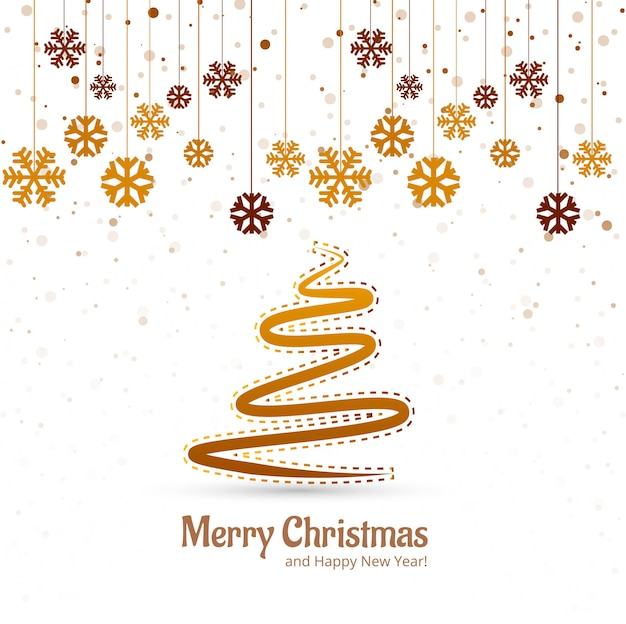 Mooie vrolijke het festival van de kerstboomfestival vector