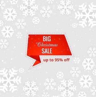 Mooie vrolijke kerstmis grote verkoopvector als achtergrond