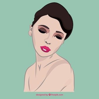 Mooie vrouw gezicht