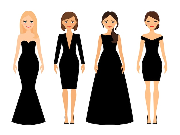 Mooie vrouwen in verschillende stijlen