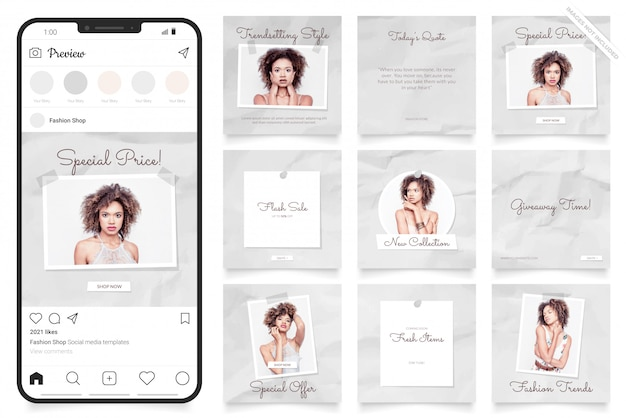 Mooie vrouwen instagram verkoop postsjabloon
