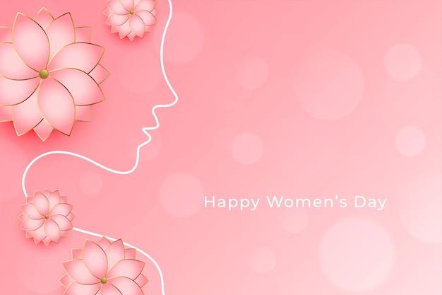 Mooie vrouwendag bloem decoratieve wensen wenskaart