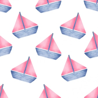 Mooie waterverf baby jacht naai patroon