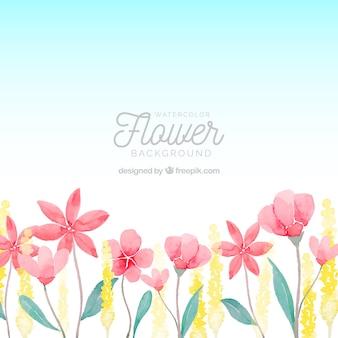Mooie waterverf bloemenachtergrond