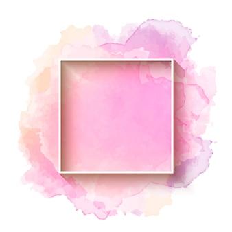 Mooie waterverfachtergrond met frame