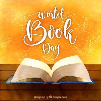 Mooie waterverfachtergrond voor de dag van het wereldboek