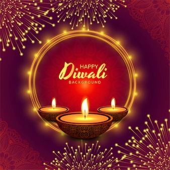 Mooie wenskaart voor festival diwali achtergrond