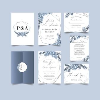 Mooie winter bruiloft uitnodiging