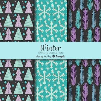 Mooie winterpatrooncollectie