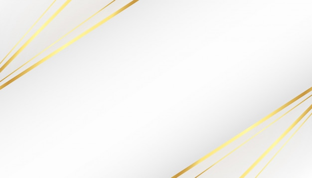 Mooie witte achtergrond met gouden lijnenvormen