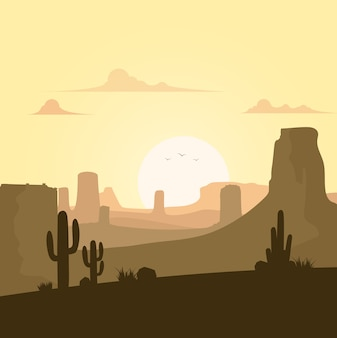 Mooie woestijn landschap-achtergrond