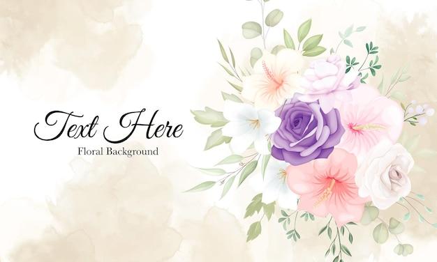 Mooie zachte bloemachtergrond