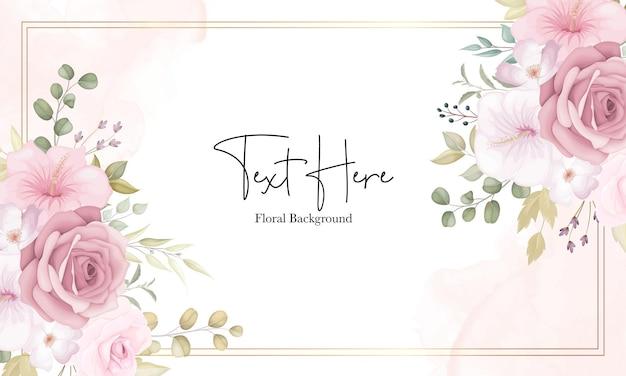 Mooie zachte bloemenachtergrond met stoffige roze bloemen