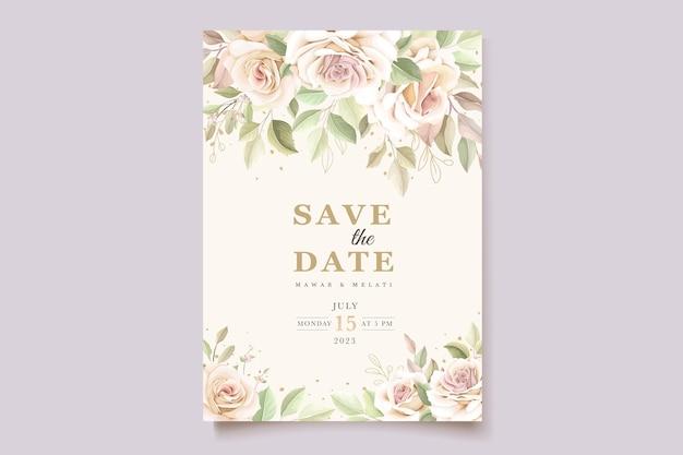 Mooie zachte rozen uitnodigingskaart