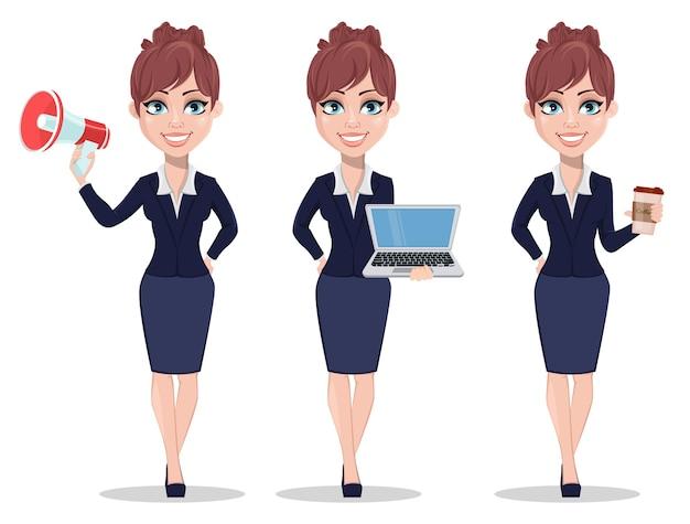 Mooie zakenvrouw in office-stijl kleding