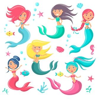 Mooie zeemeerminnen pictogram
