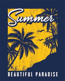 Mooie zomer illustratie