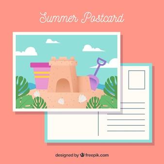 Mooie zomerse ansichtkaart