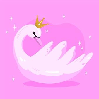 Mooie zwaan prinses concept