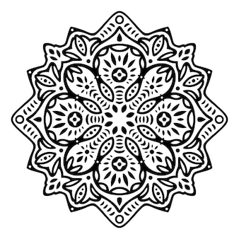 Mooie zwart-wit afbeelding met abstract zwart oost-patroon