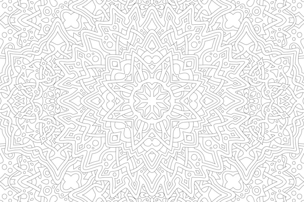 Mooie zwart-wit afbeelding voor volwassen kleurboekpagina met rechthoek abstract lineair patroon