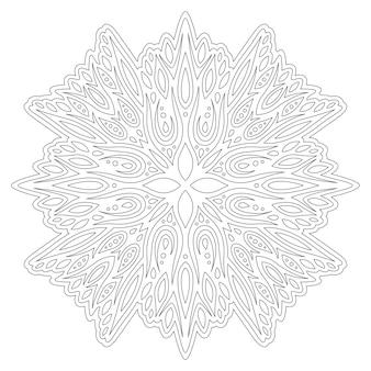 Mooie zwart-wit lineaire vectorillustratie voor volwassen kleurboekpagina met abstracte vintage patroon geïsoleerd op de witte background