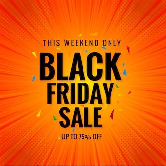 Mooie zwarte vrijdag verkoop banner