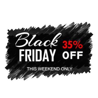 Mooie zwarte vrijdag verkoop poster