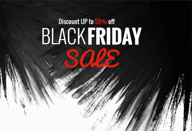 Mooie zwarte vrijdag winkelen verkoop creatieve tekst