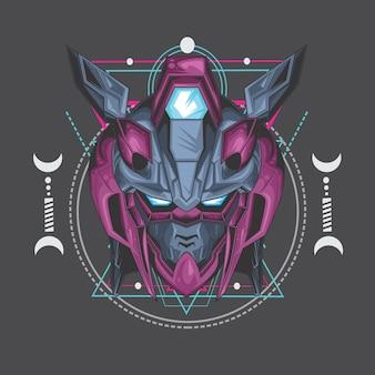 Moordenaar paarse robot