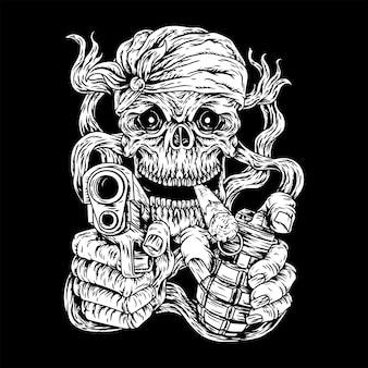 Moordenaar schedel, moordenaar door mens