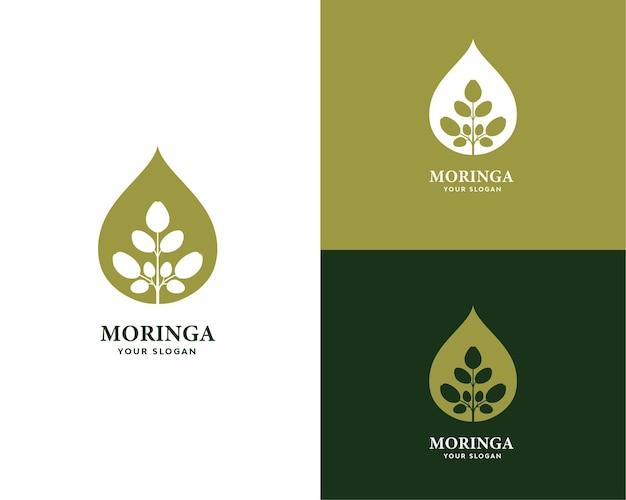 Moringa olie logo natuur