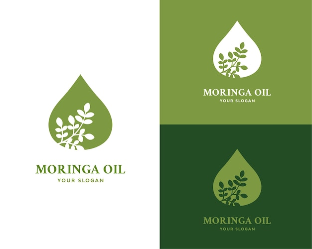 Moringa olie logo ontwerp