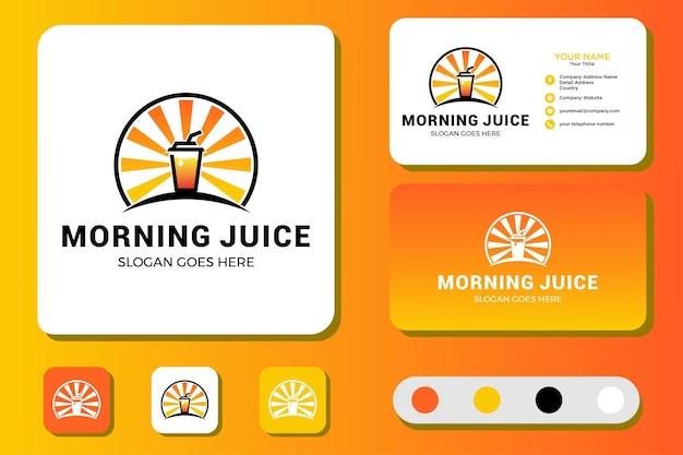 Morning juice-logo-ontwerp en visitekaartje
