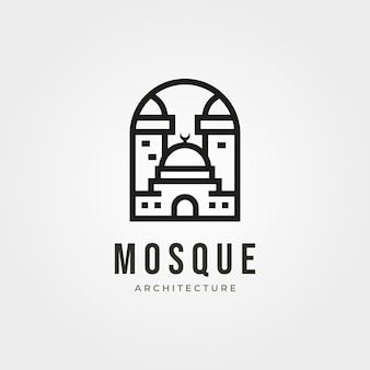 Moskee arquitecture logo