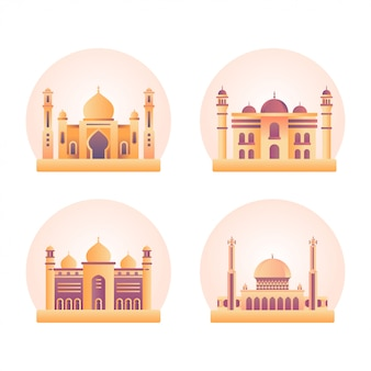 Moskee gebouw illustratie
